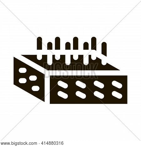 House Foundation Fittings Glyph Icon Vector. House Foundation Fittings Sign. Isolated Symbol Illustr