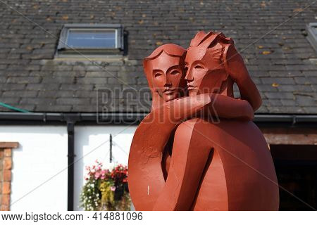 Gretna Green, Great Britain - September 13, 2014: This Is A Fragment Of The Monument To Lovers In Th