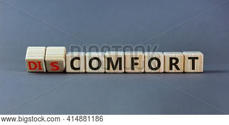From Discomfort To Comfort Symbol. Turned A Cube And Changed The Word 'discomfort' To 'comfort'. Bea