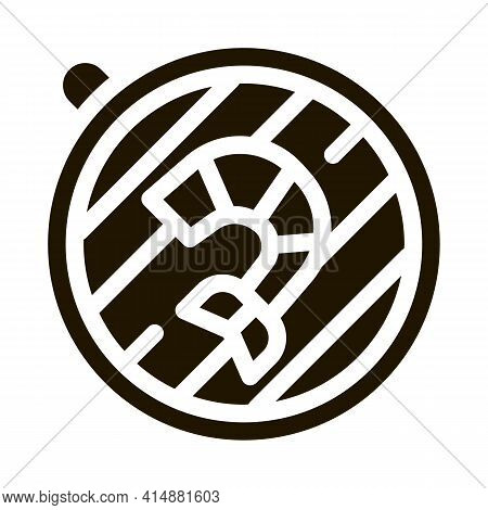 Cooking Shrimp On Bbq Glyph Icon Vector. Cooking Shrimp On Bbq Sign. Isolated Symbol Illustration