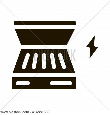 Electrical Bbq Glyph Icon Vector. Electrical Bbq Sign. Isolated Symbol Illustration