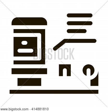 Radio Resistor Glyph Icon Vector. Radio Resistor Sign. Isolated Symbol Illustration