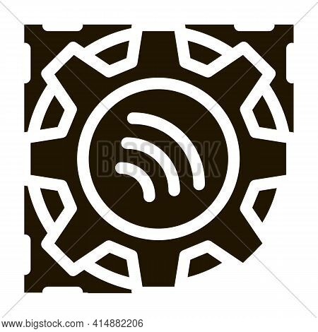 Repair Radio Signal Glyph Icon Vector. Repair Radio Signal Sign. Isolated Symbol Illustration