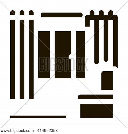 Apartment Interior Glyph Icon Vector. Apartment Interior Sign. Isolated Symbol Illustration