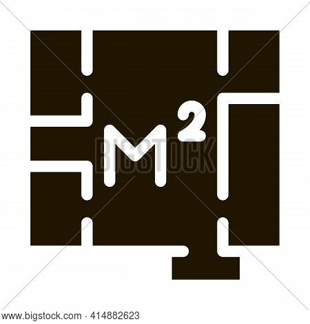 Apartment Planning Glyph Icon Vector. Apartment Planning Sign. Isolated Symbol Illustration