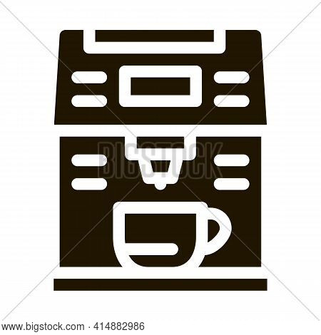 Coffee Machine Gadget Glyph Icon Vector. Coffee Machine Gadget Sign. Isolated Symbol Illustration