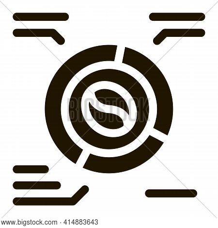 Coffee Characteristics Glyph Icon Vector. Coffee Characteristics Sign. Isolated Symbol Illustration