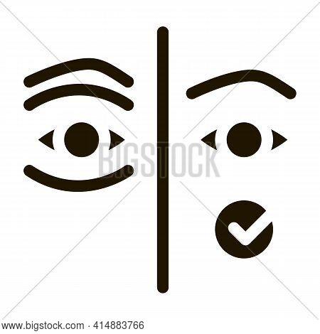Medical Eyelid Surgery Glyph Icon Vector. Medical Eyelid Surgery Sign. Isolated Symbol Illustration