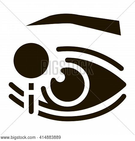 Eyelid Research Glyph Icon Vector. Eyelid Research Sign. Isolated Symbol Illustration