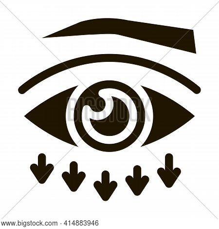 Eyelid Plastic Surgery Glyph Icon Vector. Eyelid Plastic Surgery Sign. Isolated Symbol Illustration