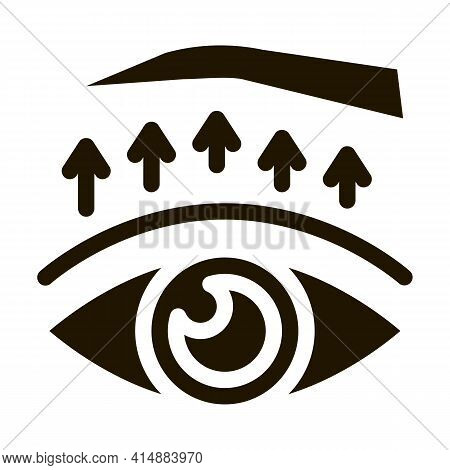 Eyelid Surgery Treatment Glyph Icon Vector. Eyelid Surgery Treatment Sign. Isolated Symbol Illustrat