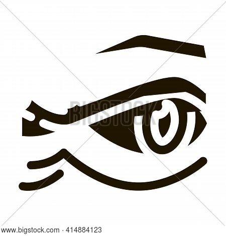 Eyelid Wrinkles Glyph Icon Vector. Eyelid Wrinkles Sign. Isolated Symbol Illustration
