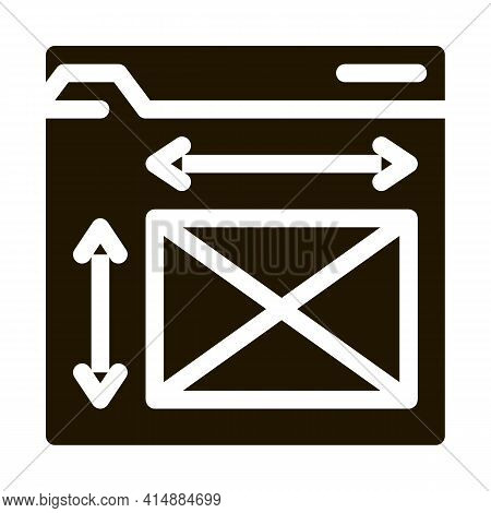 Front End Web Design Sizes Glyph Icon Vector. Front End Web Design Sizes Sign. Isolated Symbol Illus