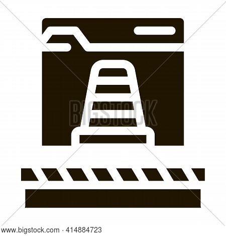 Web Site Repair Glyph Icon Vector. Web Site Repair Sign. Isolated Symbol Illustration