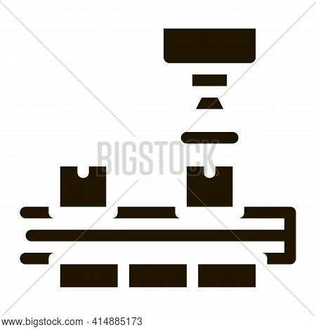 Industry Manufacturing Glyph Icon Vector. Industry Manufacturing Sign. Isolated Symbol Illustration