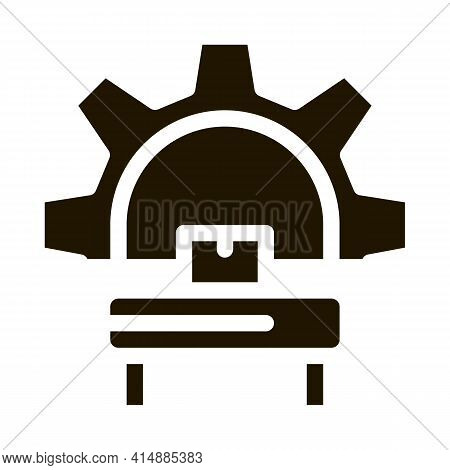 Manufacturing Equipment Glyph Icon Vector. Manufacturing Equipment Sign. Isolated Symbol Illustratio