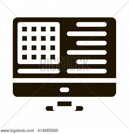 Manufacturing Computer Automation Control Glyph Icon Vector. Manufacturing Computer Automation Contr