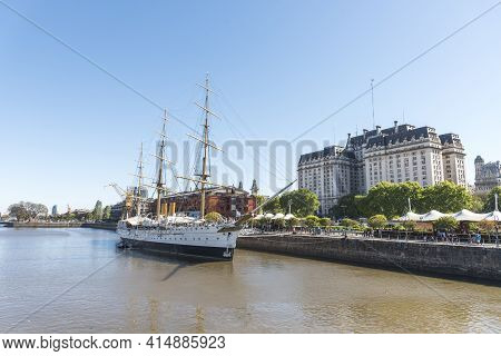 Buenos Aires, Argentina; Oct 31, 2019: Puerto Madero, An Exclusive An Touristic Neighborhood. View O