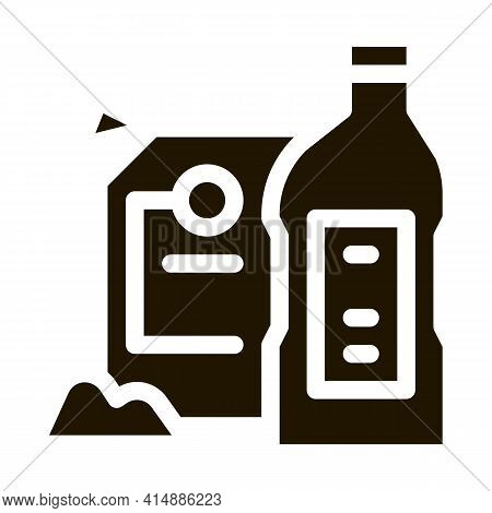 Drain Cleaning Agent Glyph Icon Vector. Drain Cleaning Agent Sign. Isolated Symbol Illustration