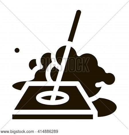 Drain Cleaning Glyph Icon Vector. Drain Cleaning Sign. Isolated Symbol Illustration