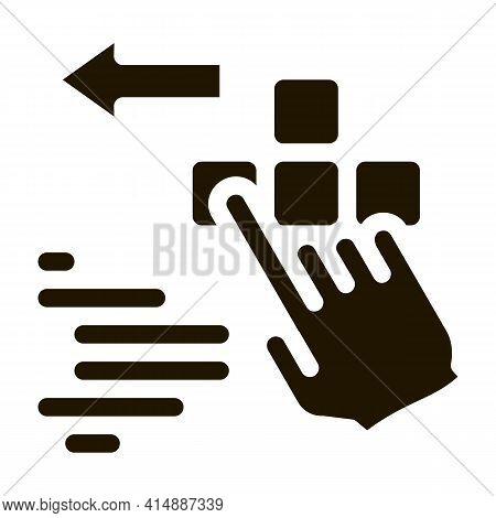 Push Game Controller Button Glyph Icon Vector. Push Game Controller Button Sign. Isolated Symbol Ill