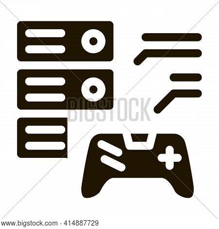 Game Main Menu Glyph Icon Vector. Game Main Menu Sign. Isolated Symbol Illustration
