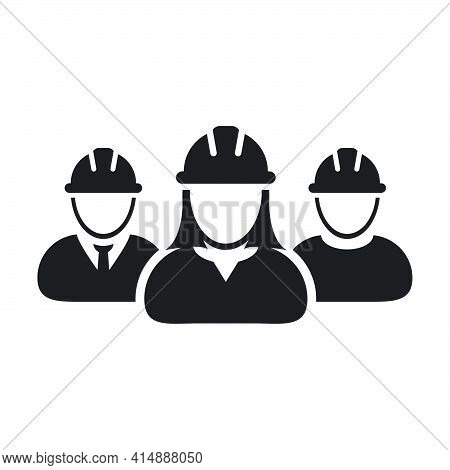Workers Icon Vector Group Of Construction Builder Contractor People Persons Profile Avatar For Team
