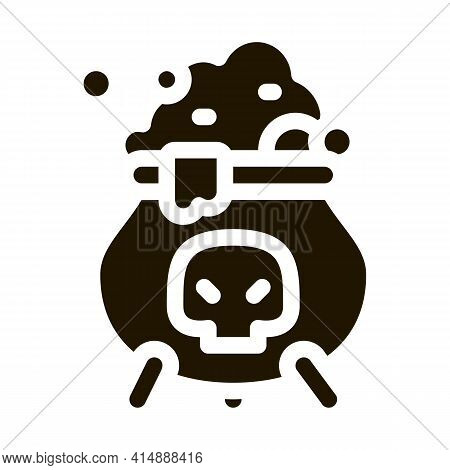 Brew Potion Glyph Icon Vector. Brew Potion Sign. Isolated Symbol Illustration