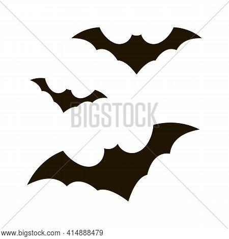 Halloween Bat Glyph Icon Vector. Halloween Bat Sign. Isolated Symbol Illustration