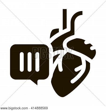 Hypertension Call Doctor Glyph Icon Vector. Hypertension Call Doctor Sign. Isolated Symbol Illustrat