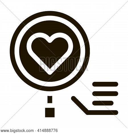 Fitness Bracelet Heart Beat Glyph Icon Vector. Fitness Bracelet Heart Beat Sign. Isolated Symbol Ill