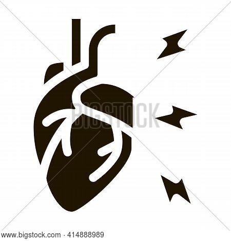 Hypertension Illness Glyph Icon Vector. Hypertension Illness Sign. Isolated Symbol Illustration