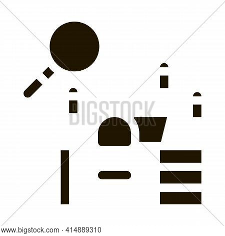Office Workplace Research Glyph Icon Vector. Office Workplace Research Sign. Isolated Symbol Illustr