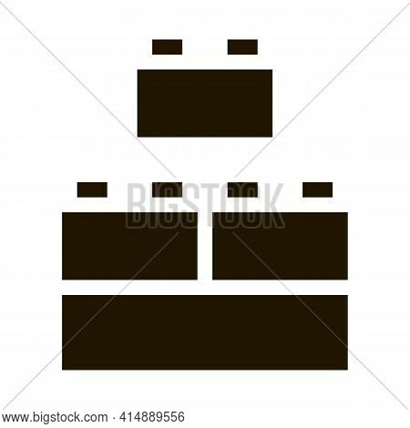 Construction Blocks Glyph Icon Vector. Construction Blocks Sign. Isolated Symbol Illustration