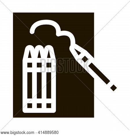 Painting Picture Glyph Icon Vector. Painting Picture Sign. Isolated Symbol Illustration
