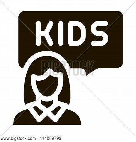 Preschool Education Teacher Glyph Icon Vector. Preschool Education Teacher Sign. Isolated Symbol Ill