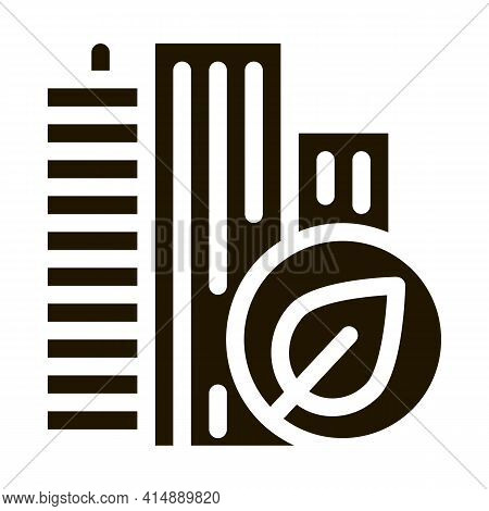 Eco Energy Plant Atom Glyph Icon Vector. Eco Energy Plant Atom Sign. Isolated Symbol Illustration