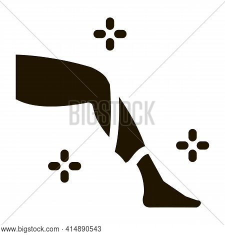 Leg Smooth Skin Glyph Icon Vector. Leg Smooth Skin Sign. Isolated Symbol Illustration