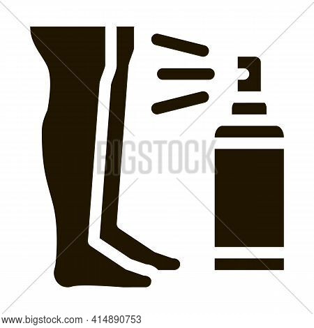Cream For Leg After Shave Glyph Icon Vector. Cream For Leg After Shave Sign. Isolated Symbol Illustr