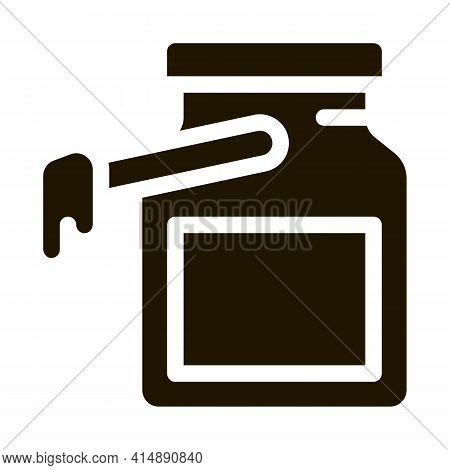Wax Bottle Glyph Icon Vector. Wax Bottle Sign. Isolated Symbol Illustration
