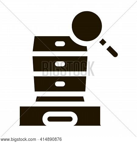 Commode Research Glyph Icon Vector. Commode Research Sign. Isolated Symbol Illustration