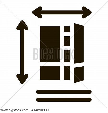 Cabinet Size Glyph Icon Vector. Cabinet Size Sign. Isolated Symbol Illustration