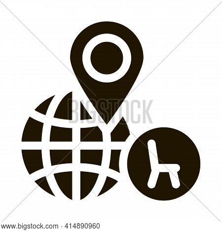 Furniture Shop Location Glyph Icon Vector. Furniture Shop Location Sign. Isolated Symbol Illustratio