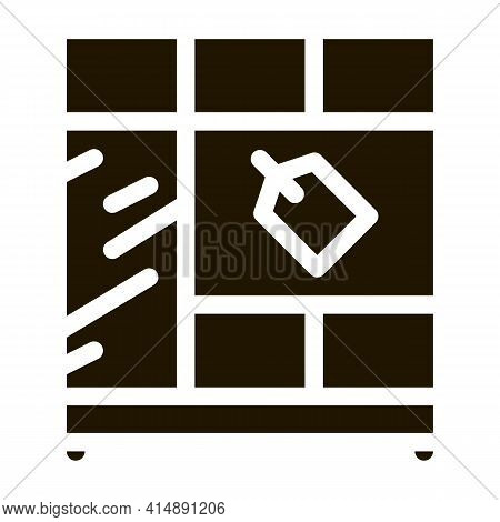 Cabinet Sell Glyph Icon Vector. Cabinet Sell Sign. Isolated Symbol Illustration