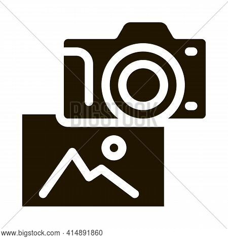 Photo Gallery Glyph Icon Vector. Photo Gallery Sign. Isolated Symbol Illustration