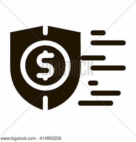 Finance Protection Insurance Glyph Icon Vector. Finance Protection Insurance Sign. Isolated Symbol I
