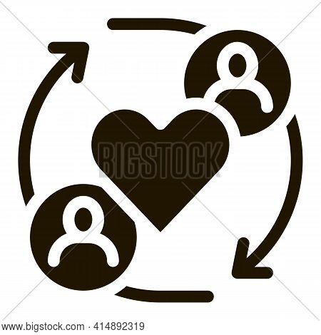 Different Race Tolerance Glyph Icon Vector. Different Race Tolerance Sign. Isolated Symbol Illustrat