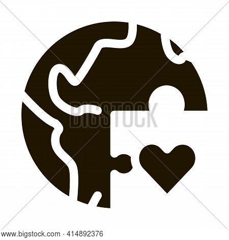 Tolerance Piece Of World Glyph Icon Vector. Tolerance Piece Of World Sign. Isolated Symbol Illustrat