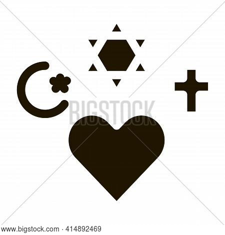 Religious Tolerance Glyph Icon Vector. Religious Tolerance Sign. Isolated Symbol Illustration