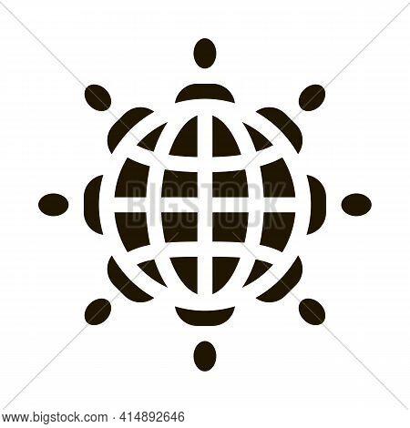 World Racial Tolerance Glyph Icon Vector. World Racial Tolerance Sign. Isolated Symbol Illustration